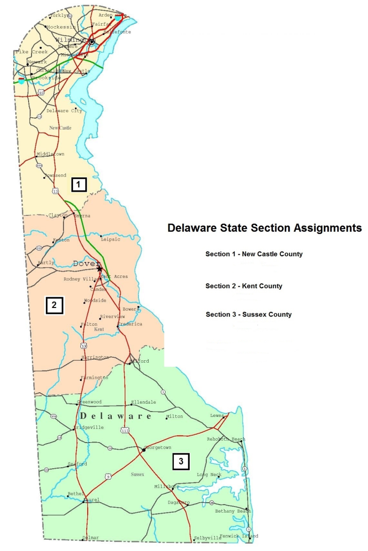 Delaware State Section MAP-2017
